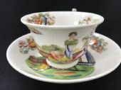 CAREWORN HILDITCH 'ladies with dove' cup and saucer a/f